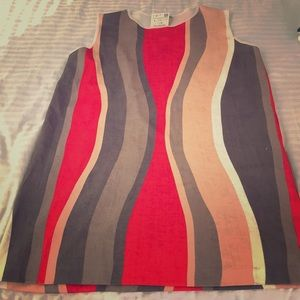 New psychedelic ZARA Tunic Top or Dress size L